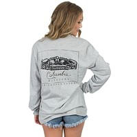 Mizzou Long Sleeve Stadium Tee in Heather Grey by Lauren James - FINAL SALE