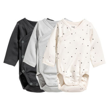 H&M 3-pack Wrapover Bodysuits $17.99