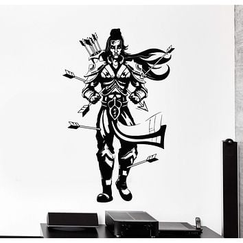 Vinyl Wall Decal Lord Rama Hinduism Arrows India Hindu Stickers Unique Gift (ig4549)