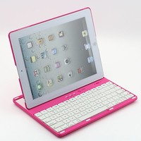 eTopxizu Rose Pink 360 Degrees Rotating Detachable Bluetooth Keyboard Case Cover for iPad 2 2nd 3 3rd 4 4th Generation