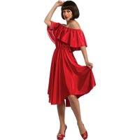 Saturday Night Fever Dress Costume - Adult (Red)