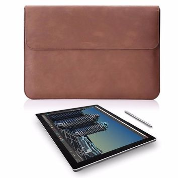 Mosiso for Microsoft Surface Pro 3 / 4  PU Leather Tablet Protective Skin Sleeve Cover Case