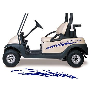 Two Color Golf Cart Decals Accessories Go Kart Stickers Side by Side Graphics GCA1207