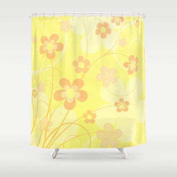 Summer floral Shower Curtain by EDrawings38
