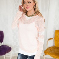 Pastel Pink Sporty Sweater