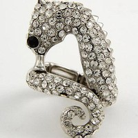 Sparkling Seahorse Ring