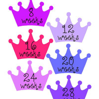 Weekly Pregnancy Stickers, Pregnancy Announcement, Pregnancy Belly Stickers, Pregnancy Photo Prop, Pregnancy Gift, Maternity Stickers, P31