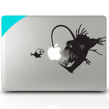 Macbook sticker Light fish Mac Book Mac Book Air Mac Book Pro Mac Sticker Mac Decal Apple Decal Mac Decals