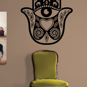 Hamsa Hand Version 1 Design Decal Sticker Wall Vinyl Decor Art