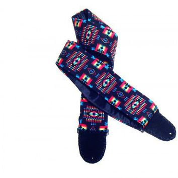 Colorful Southwest Native American Style Guitar Strap Saltillo Pattern | Coolstraps - Music/Instruments on ArtFire