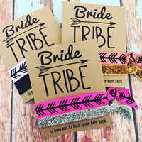 Bride Tribe Bachelorette Party Favors | Hair Tie Party Favors | to have and to hold your hair back
