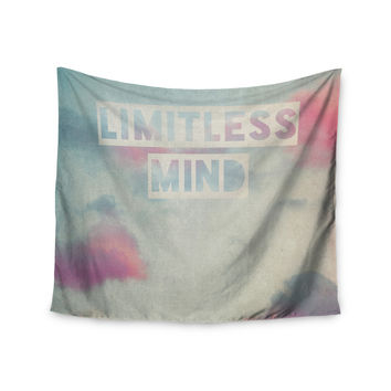 "Ingrid Beddoes ""Limitless Mind"" Clouds Blue Wall Tapestry"