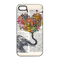 Change Fashion Elephant Design Hard Back Case Cover Skin for Iphone 5 5g 5th (color-1) (color-1)