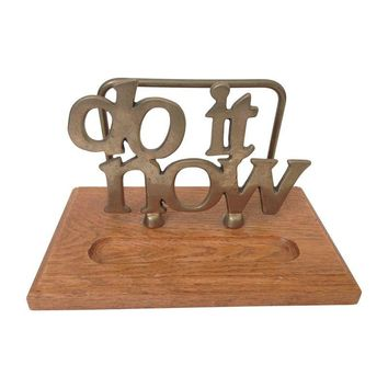 "Pre-owned Vintage ""Do It Now"" Brass Letter Holder"