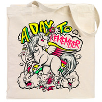 A Day To Remember: Unicorn Canvas Tote Bag