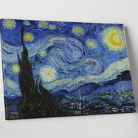 Starry Night by Vincent Van Gogh. Gallery Wrapped Canvas Print