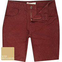 Dark red Cooper shorts