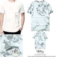 RIPNDIP cheap cat sky blue tie dye T-shirt falling cat