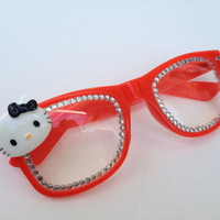 rave light show glasses - Red hello kitty