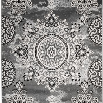 4626 Gray Medallion Traditional Area Rugs