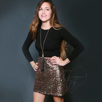 Sequin A-Line Mini Skirt - Party // Wedding // Bachelorette // Bridesmaid // Prom // Homecoming // Holiday // New Years Eve