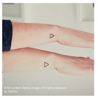 Triangle, small triangle, temporary tattoo