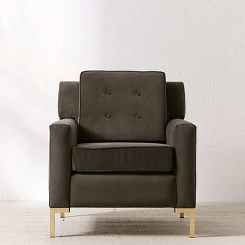 Archer Velvet Arm Chair | Urban Outfitters