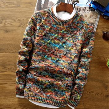 Modern Knitted Pullover Sweater