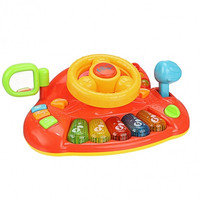 Baby Boy Girl Educational Development Learn And Discover Driver Toy Plastic Steering Wheel Keyboard