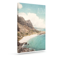 "Nastasia Cook ""Aloha"" Mountain Beach Outdoor Canvas Wall Art"