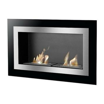"Ignis Villa - 36"" Built-in/Wall Mounted Ethanol Fireplace (WMF-040)"