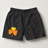 Orange Beer Clover for St. Patricks Day Boxers
