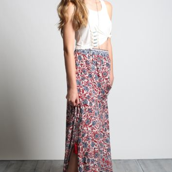 Cotton Candy L.A. Fire Light Maxi Skirt