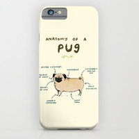 Anatomy of a Pug iPhone & iPod Case by Sophie Corrigan