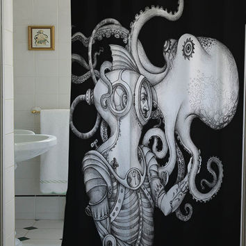 Deep Sea Discovery shower curtain shower curtain that will make your bathroom adorable