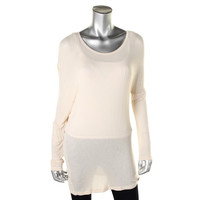 Guess Womens L3501116 Modal Knit Pullover Top