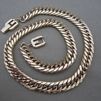 Vintage Gold Braided Chain Givenchy Signed by ChickenLittleJewelry