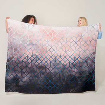 Geometric XI Fleece Blanket