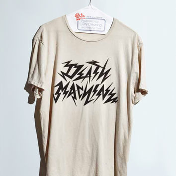 Death Machine Men's Tee Dirty White