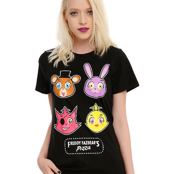 Five Nights At Freddy's Character Icons Girls T-Shirt