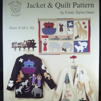 Noahs Ark Jacket & Quilt Pattern Animal Appliques by 7thStash