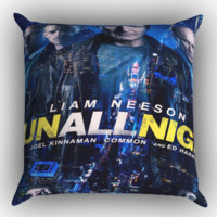 run all night X0411 Zippered Pillows  Covers 16x16, 18x18, 20x20 Inches