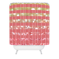 Lisa Argyropoulos Champagne Tango Stripes Shower Curtain