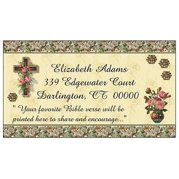"""Bible Verse""  Custom Printed Victorian Calling Cards 250"