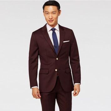 Men Suits for Wedding Brown Suit