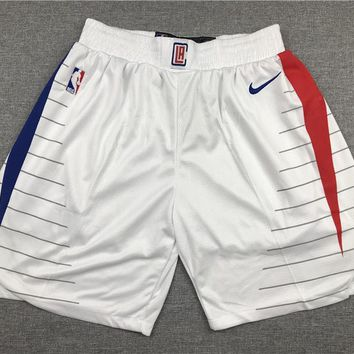 Los Angeles Clippers Basketball White Sport Short - Best Deal Online