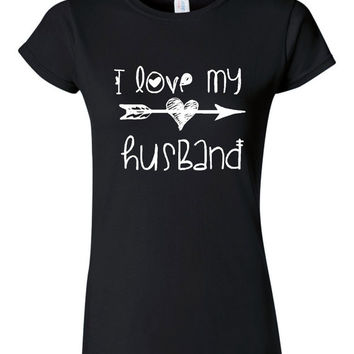 I love My Husband Adorable Shirt for Gift or Holiday Shirt