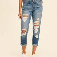 Girls Low-Rise Boyfriend Jeans | Girls Bottoms | HollisterCo.com