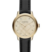 Burberry | Women's Diamond Leather Band Watch - 0.4 ctw | Nordstrom Rack