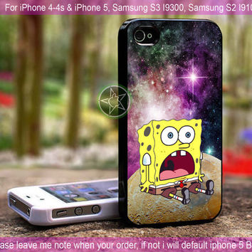 Spongebob Star In Galaxy Nebula - iPhone 4 / iPhone 4S / iPhone 5 / Samsung S2 / Samsung S3 / Samsung S4 Case Cover